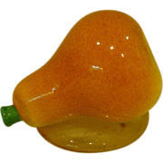 SOLD Antique art glass pear paperweight