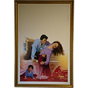 Danny Crouse Harlequin Intrigue #114 Without a Trace oil painting illustrationist art