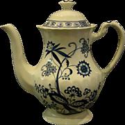 J&G Meakin English Ironstone Blue nordic tall coffeepot coffee pot