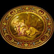 Vienna Austria beehive portrait plate bowl Venus Amor cupids