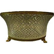 Antique bronze and crystal paw foot centerbowl center bowl