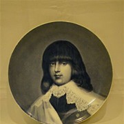 SOLD Haviland Limoges blue and white portrait charger