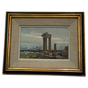 Paul Strisik Temple of Apollo Greece oil painting