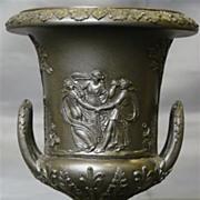SALE Wedgwood basalt jasperware miniature handled urn classic figures