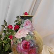 Gorgeous European Vase; Beautiful, Impressionistic Roses