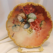 Captivating Limoges Plate; Rich Currents; Beautiful Leaves