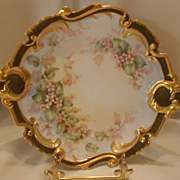 Outstanding Limoges Charger/Plate; Expertly Painted Pink Violets