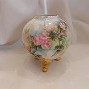 Dainty & Lovely T&V Limoges Footed Rose Bowl Vase; Dainty, Delicate Roses
