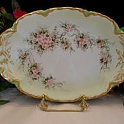 Very Lovely Haviland Tray; Dainty Violets; Heavy Gold;Beautiful Mold
