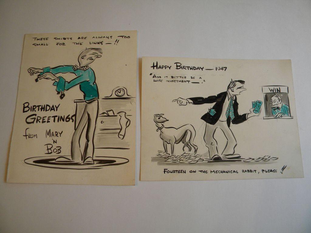 Cartoon Birthday Card Drawing Cartoon Birthday Cards 2