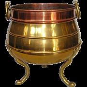 SOLD 19th Century English Brass & Copper Jardinière