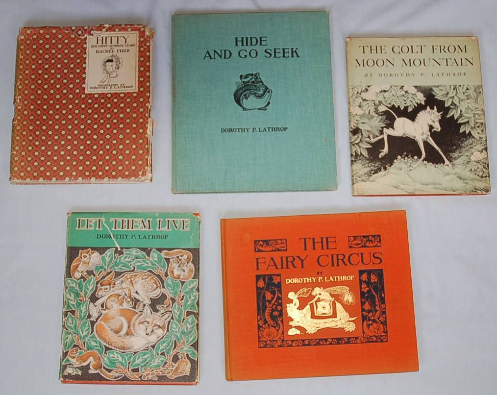 Lily Bell Rhodes Collection of Dorothy Lathrop Books, Wood Cuts, Drawings, & Cards