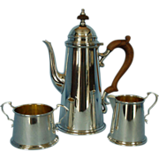 Mid-20th Century American Sterling Silver Three-piece Coffee Set by Redlich Silver Company, Ne