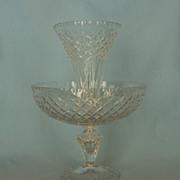 Early 20th Century Irish or English Cut Glass Ėpergne