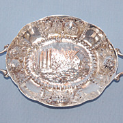 Early 20th Century German 930 Silver Miniature Tray