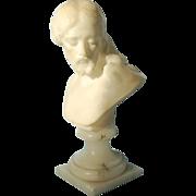 Vintage Italian Marble Bust of Christ on Onyx Socle