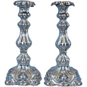 Pair of 19th Century Austro Hungarian 800 Fine Silver Candlesticks