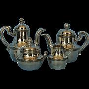 19th Century French 950 Silver Tȇte à Tȇte Tea & Coffee Set