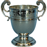Antique English Sterling Silver Two-handled Cup by William Neale, Birmingham 1906