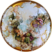 19th Century Exceptionally Large Hand-painted Limoges Porcelain Tray or Serving Dish by Charle