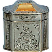 19th Century Dutch 833 Fine Silver Vinaigrette