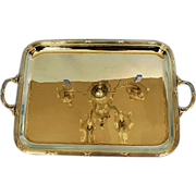 SOLD Early 20th Century Vintage French Silverplate Two-handled Tray