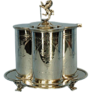 19th Century English Silverplate Biscuit Barrel by Mappin & Webb