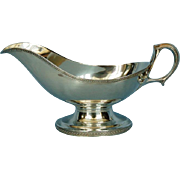 19th Century Tiffany Sterling Silver Empire Style Gravy Boat