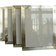 Four Anglo-Indian Sterling Silver Picture Frames, Circa 1940