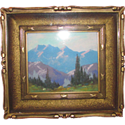 Ernest Henry Pohl Oil Pastel Painting in Gilt Frame Circa 1930