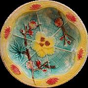 Antique Victorian Majolica Dish 19th century