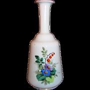 Antique English Victorian Opaline Bristol Glass Cologne Bottle 19th Century
