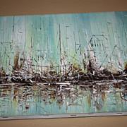SALE Painting Ship Ocean Morris Katz Nautical Beach