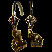 SALE 14K Earrings Diamond Dangle T & C