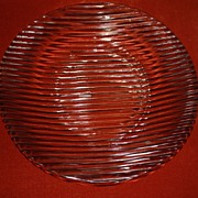Cive Italian Hand Crafted Glass Serving Plate Platter Centerpiece Tuscany Serving Centerpiece