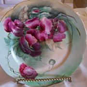 Antique Limoges JPL Jean Pouyat Limoges Plate Roses
