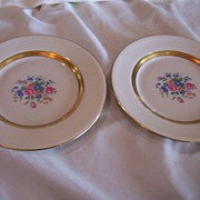 SALE Theodore Haviland China Saucer Plates Gainsborough Gold