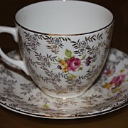 SALE Vintage Regina English China Demitasse Cup Saucer Set