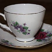 SALE Vintage English China Royal Vale Cup Saucer Demitasse Set