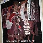 SALE Vintage Movie Theatre Poster For a Few Dollars More Clint Eastwood Spaghetti Western
