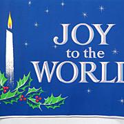 SALE Christmas Poster 1965 Black Light Holiday Sign Wall Display Rare
