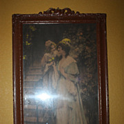 SALE Antique Print 1902 Art George Sheridan Knowles Signed A Love Gift
