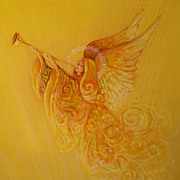 SALE Vintage Norcross Painting Original Art Christmas Angel
