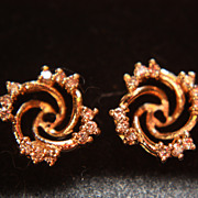 SALE Earring Jackets Vintage 14K Diamond Enhancers Original Receipt