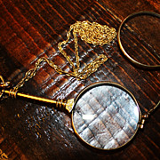 SALE Antique 14K Lorgnettes Eye Glasses Magnify Folding Opera
