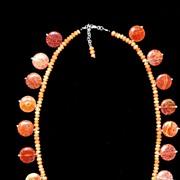 """""""Crab Agate"""" & Aventurine Necklace"""