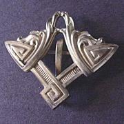 Vintage Costume Jewelry Art Nouveau Watch Pin