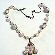 Pink Moon - glo Lavaliere Styled Necklace