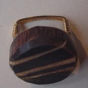 Vintage Carved Wooden Ring