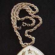 Hattie Carnegie Astrology  Zodiac Pin / Pendant Necklace
